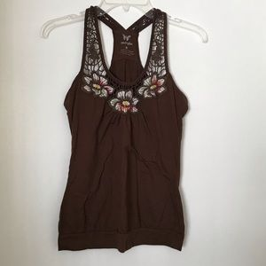 Brown Racerback Tank Top
